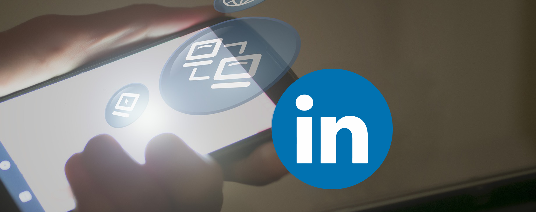 Linkedin logo on a mobile phone