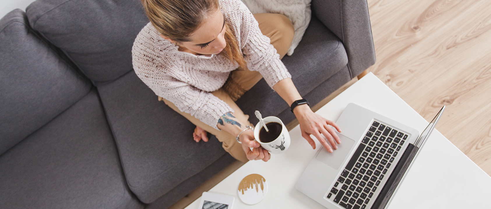 Freelance Worker on laptop