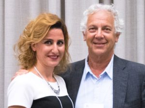 L to R: Winner Talar Karageozian with Bill Skolnik, son of Betty and Bill Skolnik