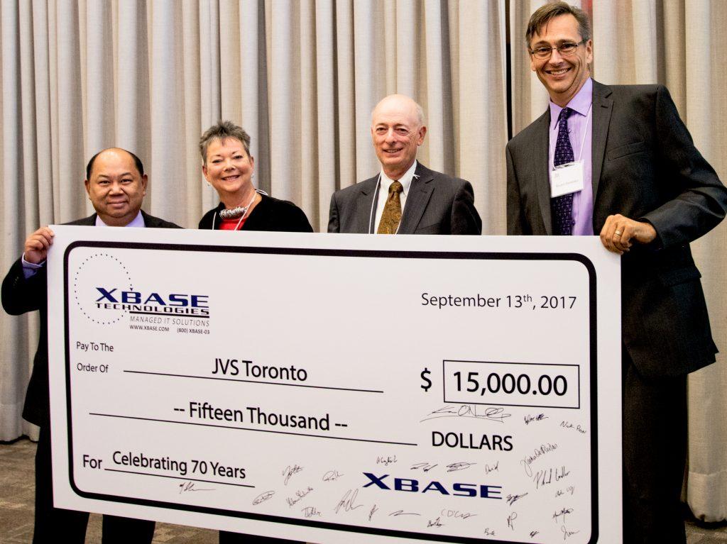 2017 JVS AGM XBASE Cheque Presentation