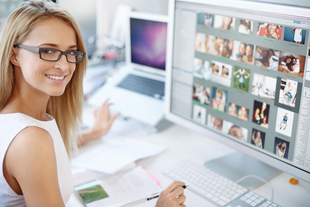 Female employee at work