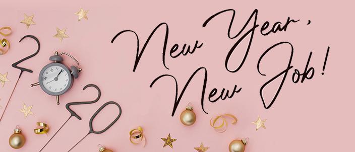 "Text ""2020. New year, new job"""