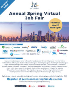 Spring Virtual Job fair Flyer